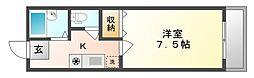 岡山県倉敷市青江の賃貸アパートの間取り