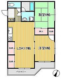 ロイヤルハイツ金子II[2階]の間取り