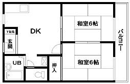 ドルフR&M[203号室]の間取り