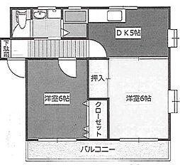 松本マンション[202号室号室]の間取り