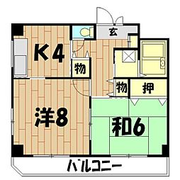 二俣川YUビル[506号室]の間取り