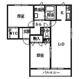 シャーメゾン東太子[2階]の間取り