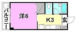 コーポ清水[203 号室号室]の間取り