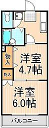 サンステージ竹の塚[305号室]の間取り