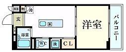 パラシオ夙川名次[3階]の間取り