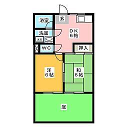サンシャイン東栄[1階]の間取り
