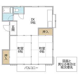 沢田コーポ[201号室号室]の間取り