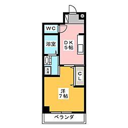 シャトーみずほ[4階]の間取り