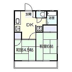 東台椿山荘 203[203号室]の間取り