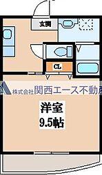 カーム森ノ宮[1階]の間取り