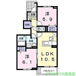 ル・グラン矢三 I[1階]の間取り