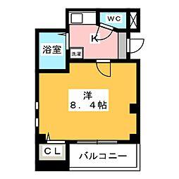 ピュア箱崎 弐番館[2階]の間取り
