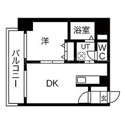 北海道札幌市中央区北三条西24丁目の賃貸マンションの間取り