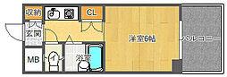 EASYBOX千里山東[4階]の間取り