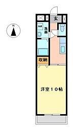 栃木県宇都宮市西1丁目の賃貸マンションの間取り