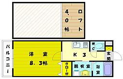MYS三苫[2階]の間取り