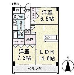 スカイビレッジ 1階[102号室]の間取り