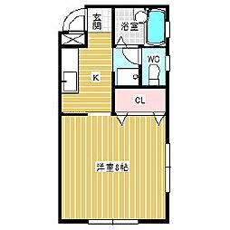 メイプルハウス[B-1号室]の間取り