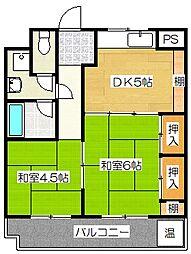 エバーライフ武蔵野[4階]の間取り