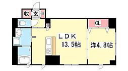 CARETTA神戸元町通[401号室]の間取り