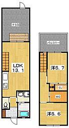 エトワール藤阪[2階]の間取り