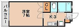 パレスJJ[7階]の間取り