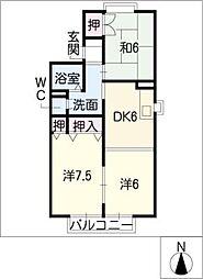 ゴーバルハウスII[1階]の間取り