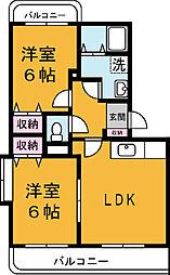 茨城県つくば市上原の賃貸マンションの間取り