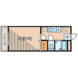 神奈川県相模原市中央区鹿沼台2丁目の賃貸アパートの間取り