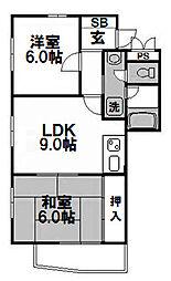 創建塚本ビル[6階]の間取り
