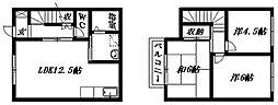 [テラスハウス] 静岡県浜松市南区鼡野町 の賃貸【/】の間取り