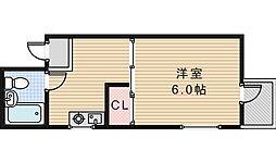 コーポ中野[302号室]の間取り