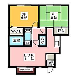 パークサイドハウス  F棟[1階]の間取り