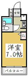コスモプレイス蕨[2階]の間取り
