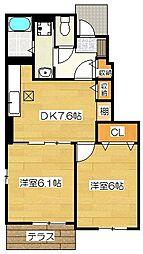 ライズハウス1[101号室]の間取り