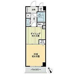 ライオンズマンション水戸三の丸[2階]の間取り
