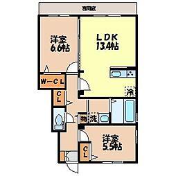 Alta Famiglia[1階]の間取り
