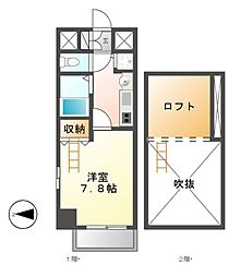 プレサンス名古屋駅前アクシス[8階]の間取り