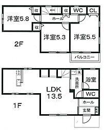 [一戸建] 静岡県富士市伝法 の賃貸【静岡県 / 富士市】の間取り