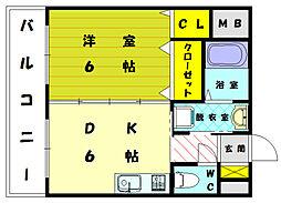 福岡県福岡市東区和白丘3丁目の賃貸マンションの間取り