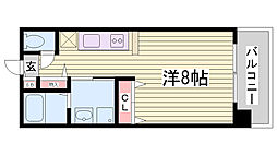 兵庫県神戸市中央区生田町2丁目の賃貸マンションの間取り