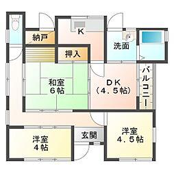 [一戸建] 兵庫県神戸市垂水区霞ケ丘5丁目 の賃貸【/】の間取り