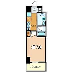 パウゼ東天満[6階]の間取り