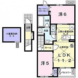 礼羽アパート[2階]の間取り