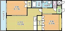 Maple Garden(メープルガーデン)[2階]の間取り