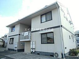 岡山県倉敷市西中新田丁目なしの賃貸アパートの外観