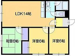 リヴィエール412C[3階]の間取り
