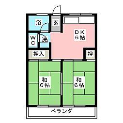 松屋ビル[4階]の間取り