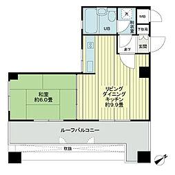 ライオンズマンション泉崎第2[9階]の間取り
