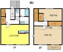 [テラスハウス] 愛知県名古屋市千種区園山町2丁目 の賃貸【/】の間取り